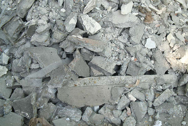 rubble trash heap debris stone