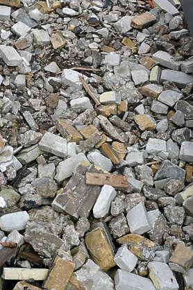 debris rubble bricks