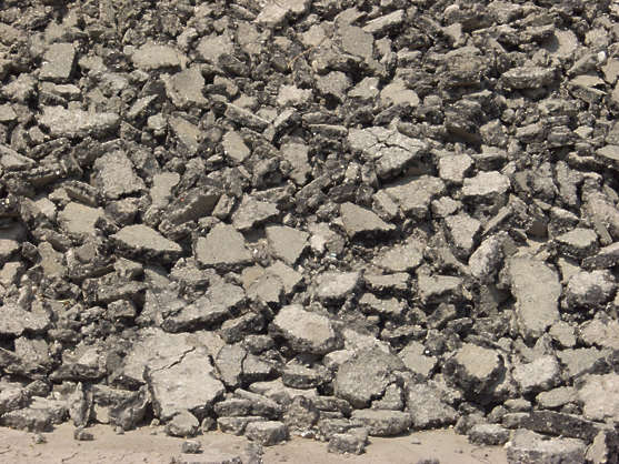 tarmac asphalt damaged heap