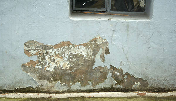 concrete plaster damaged old dirty