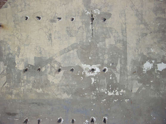 concrete paint dirty holes