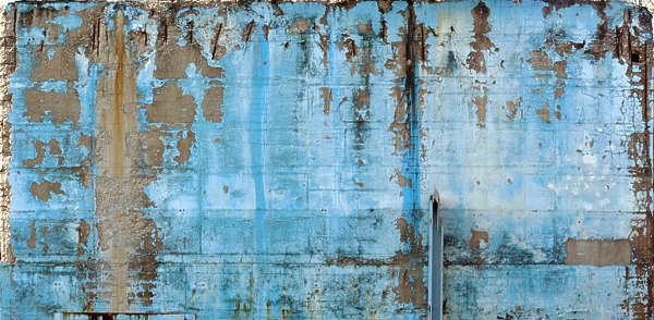 Concrete Wall Paint Worn Old