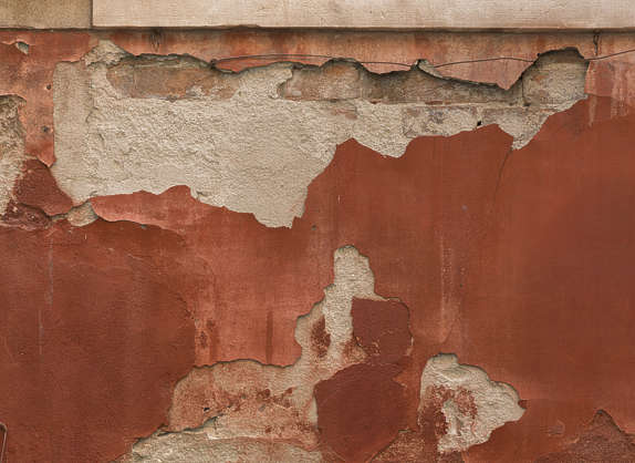 plaster damage brick decal hole venice italy masked alpha isolated