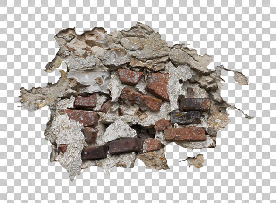 damaged damage decal masked brick plaster alpha isolated