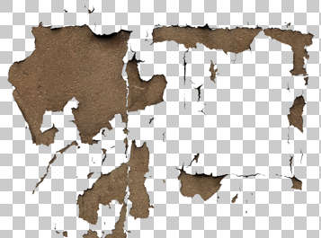 decal masked plaster worn isolated alpha