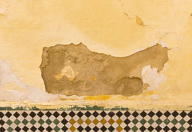 plaster damaged masked alpha decal morocco africa isolated