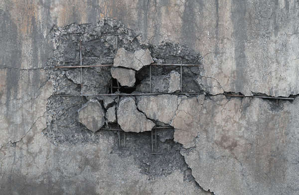 concrete damage damaged reinforced bare decal masked alpha isolated