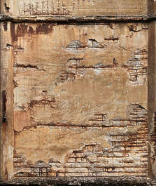 concrete damaged rebar bunker wall reinforced decal isolated masked alpha