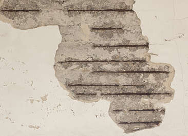 plaster damaged concrete rebar old broken seam decal masked alpha isolated