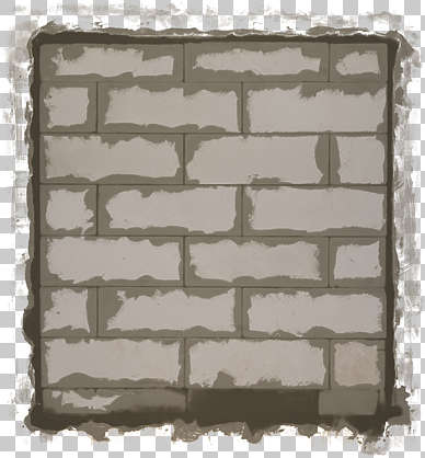 plaster patched cement masked alpha decal isolated bricked