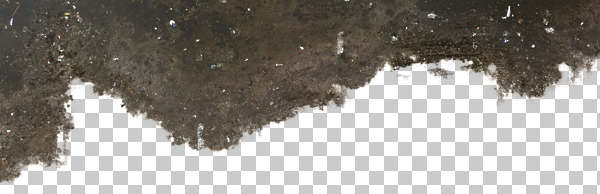 decal stain floor concrete masked alpha isolated