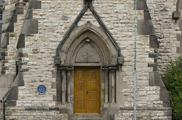 UK church door entrance