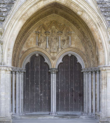 UK church cathedral arch medieval door