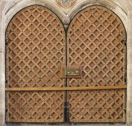 UK church cathedral door double medieval