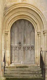 UK door medieval arch archway double wooden