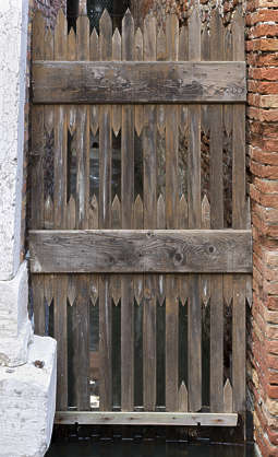 venice italy door wooden fence door