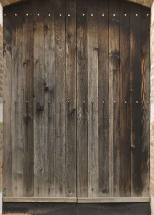 venice italy wood medieval door double studded