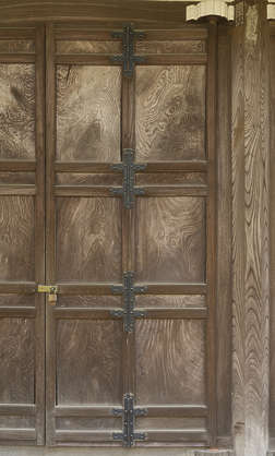 japan wood door wooden old japanese temple panelled