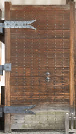 door wood medieval japan old temple