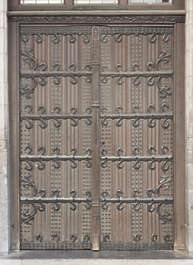 door old medieval ornate wood