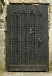 door studded wood medieval