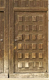 door wood medieval old
