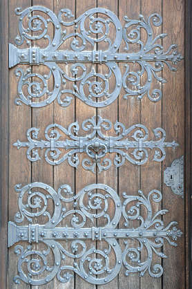 door ornate ornament hinges curl curls
