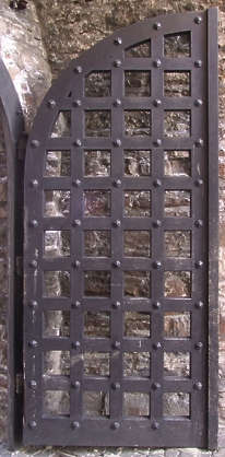 door medieval castle gate wood