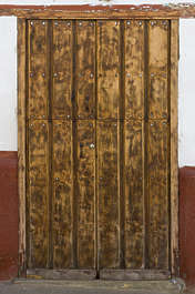 door wood planks old