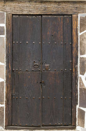 door wood old dark medieval