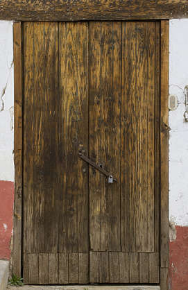 door wood old medieval planks