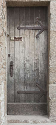 door wood medieval old single hinges