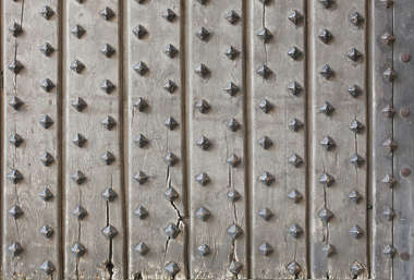 door wood single studded planks armored medieval