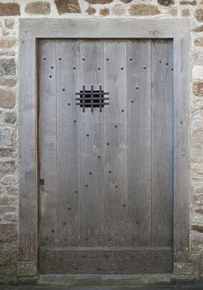 door medieval wood old single