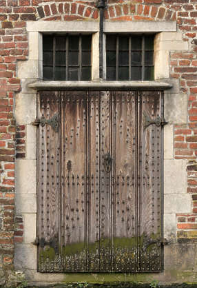 door medieval old wood planks