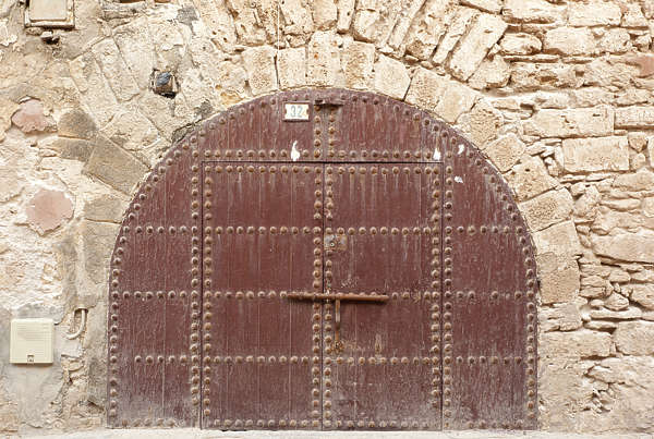 morocco door big wood arch old medieval