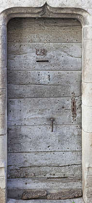 door wood old medieval single