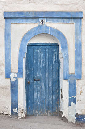 morocco door wood arch ornate old