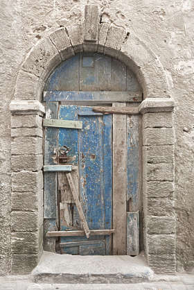 morocco door wood barred arch ornate old medeieval