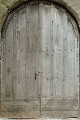 wood planks old bare door