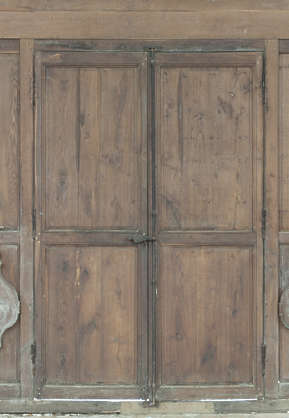 door double wooden medieval old