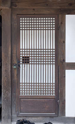 korea south hanok asia asian door single medieval old wooden