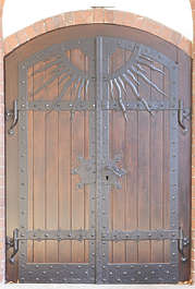 door double medieval wooden wood