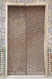 moorish ornament islamic palace arab arabian arabic wood door ornate