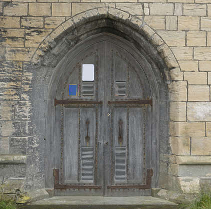door double wooden medieval UK