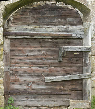 door single wooden medieval old rough UK