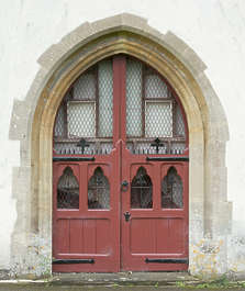 door medieval arch new painted UK