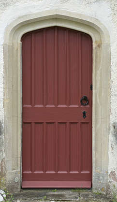 door medieval single clean painted UK