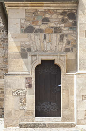 door single wooden medieval