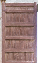 wood studded armored old medieval door morocco